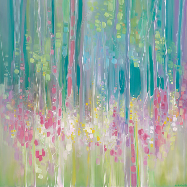 Abstract Summer - a summer wildflower LARGE ORIGINAL Oil Painting