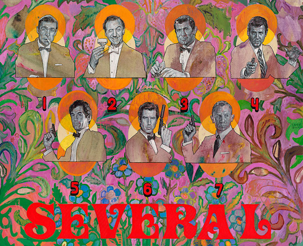 Several // Actors Who've Portrayed 007, fine art print by Caley Buck.