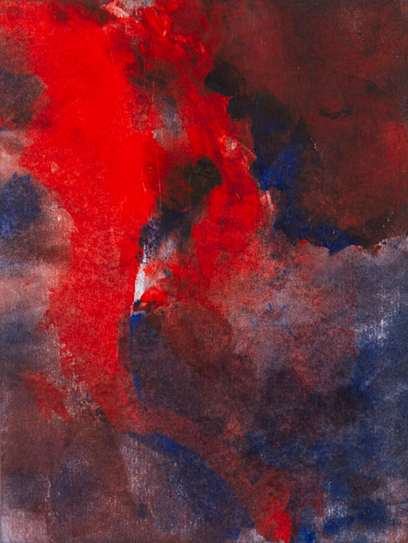 Drowning In Red Oil Painting on Arches Oil Paper