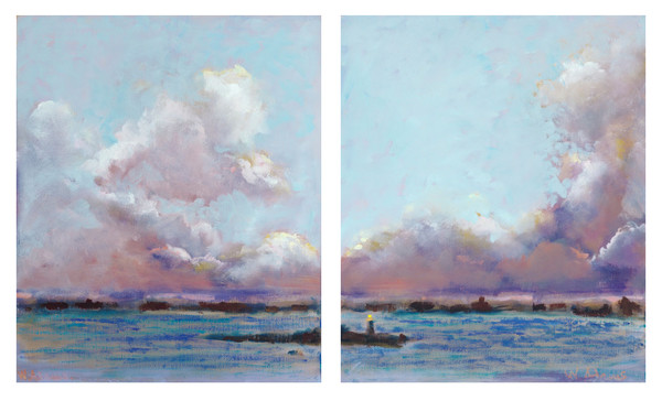Clouds (Diptych)