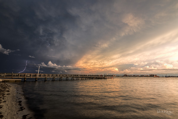 Gulfport Lightning Show Photographic Art