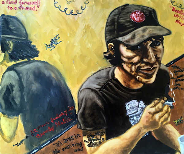Elliott Smith original oil painting