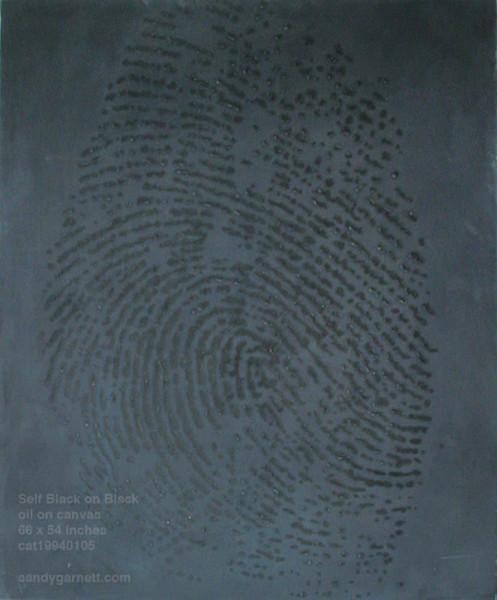 Black on Black Fingerprint Self-Portrait