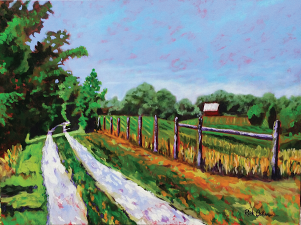 Leaving Luke's | Farm Fine Art Painting by Rick Osborn