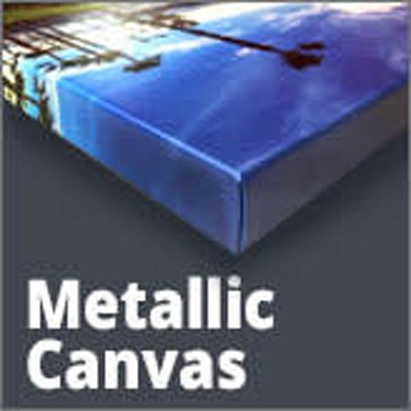 """20% OFF!  - 12X18- .75"""" Stretched Metallic Canvas- $̶9̶3̶"""