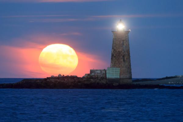 Whaleback Moonrise