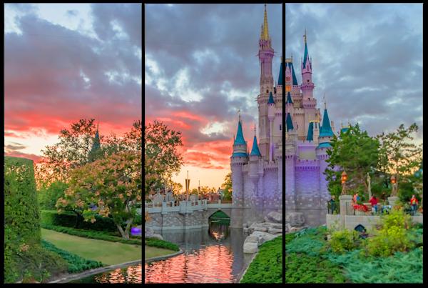 Castle Dusk - Disney Canvas Art   William Drew