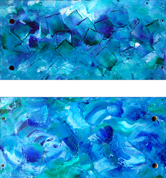 Tsunami, Before And After diptych