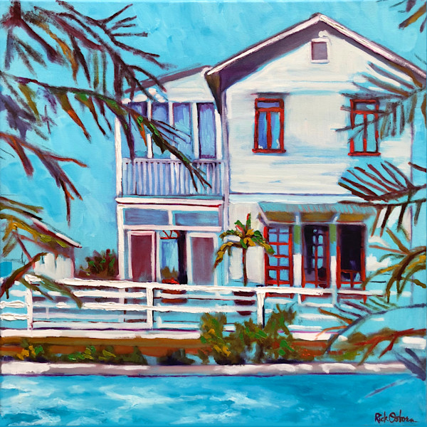 Blue By You | Fine Art Painting Print by Rick Osborn