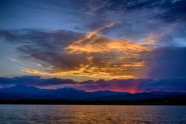 Mountain Sunset at McIntosh Lake
