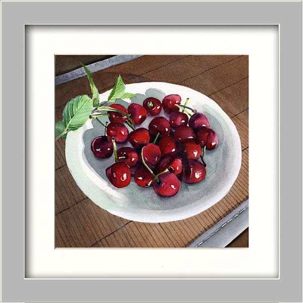 Life Is Like A Bowl Of Cherries Summer Fruit Origianl Fine Art