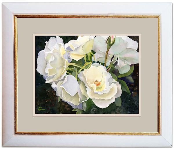 Beautiful Boston Peaceful Garden White Rose Original Fine Art