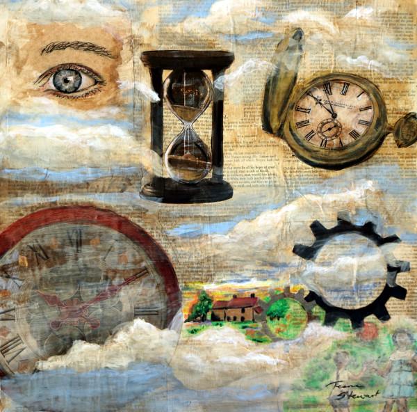 Mind's Eye, Mixed Media Surrealist Painting, Art Print, Fine Art and Paintings for Sale by Teena Stewart of Serendipitini Studio