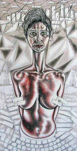 Her pop surrealist nude painting
