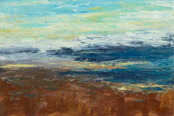 Abstract landscape paintings in mixed media by Holly Whiting for sale