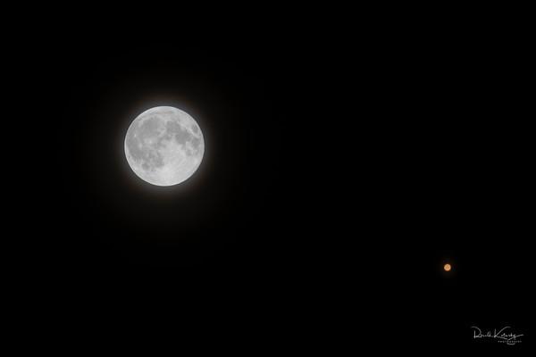 Moon and Mars Fine Art Photography