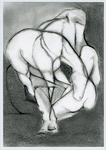 Horse 2, charcoal