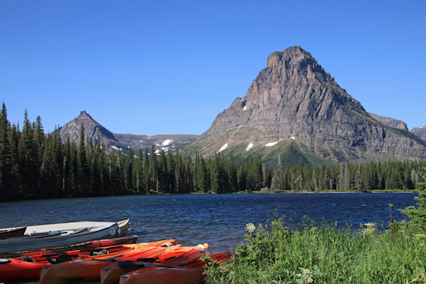 Mount Sinopah and Boats