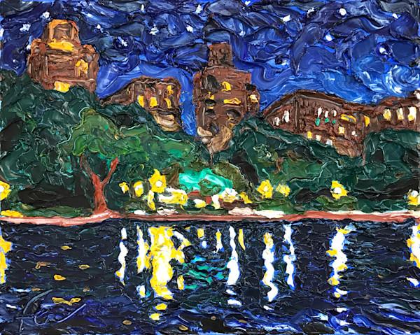 Central Park Lake at Night