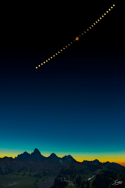 2017 Total Solar Eclipse Above The Grand Tetons