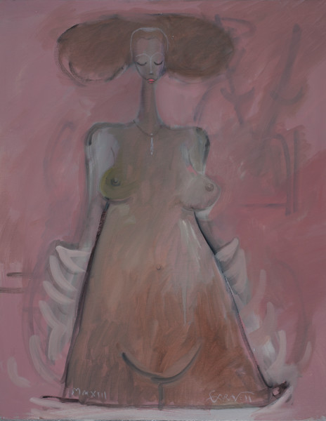 Standing Woman White Robe