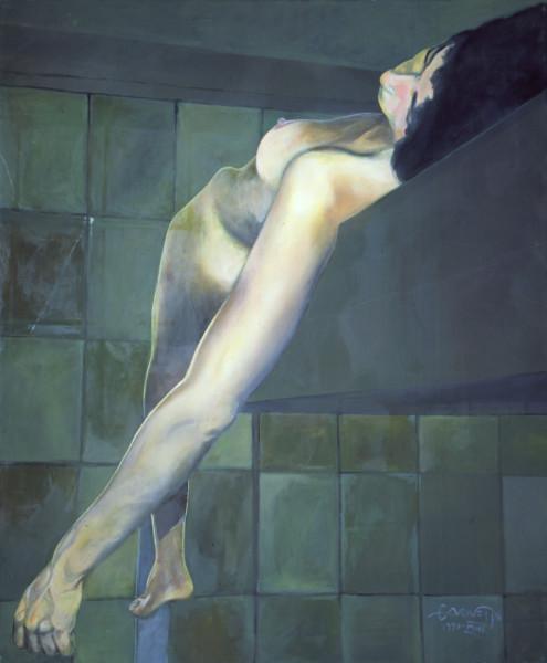 Reclining Nude on Loft
