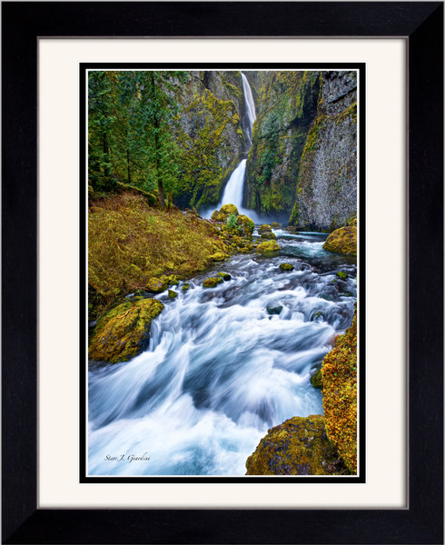 Wahclella Falls (141007LNND8) Framed Photograph for Sale as Fine Art Print
