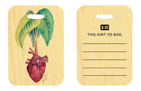 Taro Heart Bag Tag