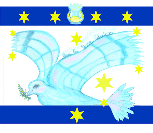 """""""Shalom Peace Dove"""" by Mariella Pace 