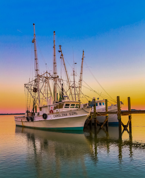 Pastel Colored Sunset at the Docks