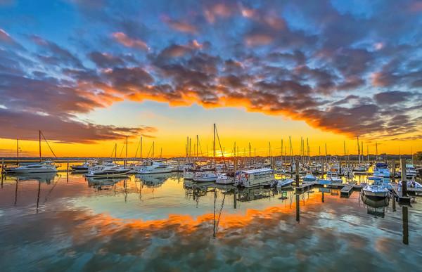 Perfect Marina Reflection