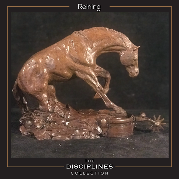 bronze sculpture, reining bronze, reining sculpture