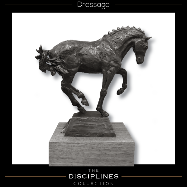 bronze sculpture, dressage sculpture, world equestrian games, weg, discipline collection