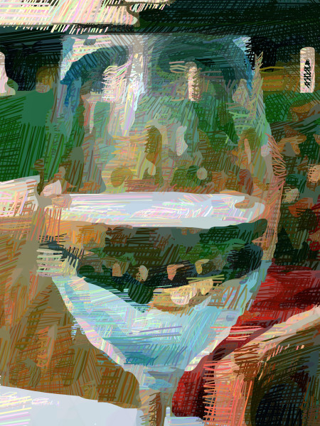 Glass half full art by McClard at brilliancegallery.com
