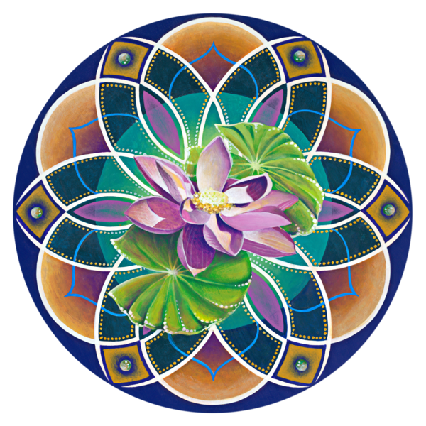 Lotus Drops - Fine Art Mandala Print for Sale - Art by Ishka Lha