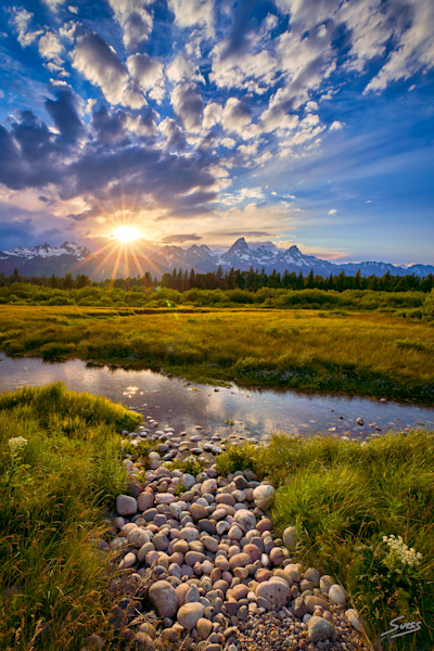 Spring Sunset at the Tetons