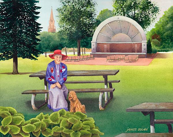 Red Hat fine art print by Jim Dolan.