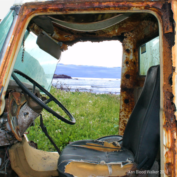 Rusty Truck with a View for Sale as Fine Art