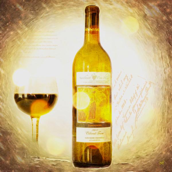 Flirtatious Wine Bottle Art