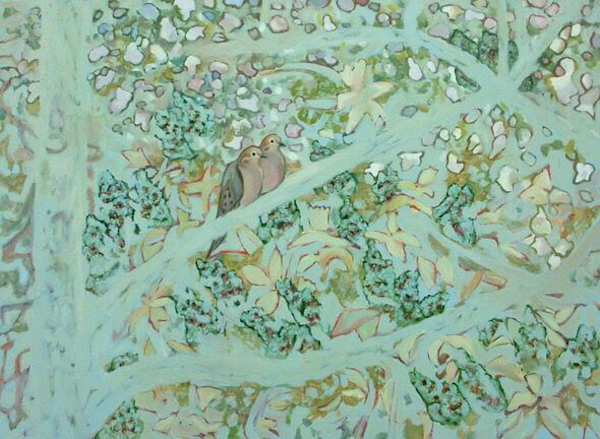 Doves in the Apple Tree