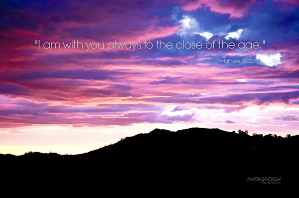 """""""I am with you Always"""" - digital painting photograph"""