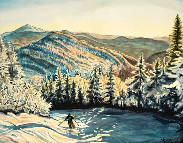 'Golden Hour' Bolton Valley Art for Sale