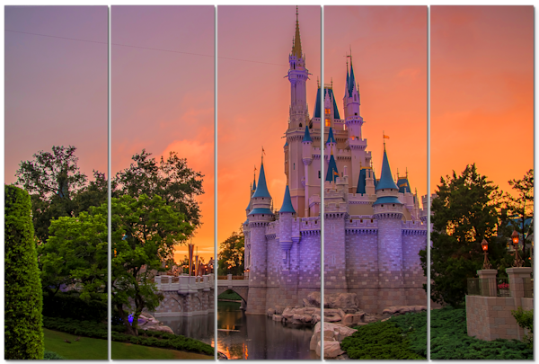 Cinderella's Castle Sunset - Disney Canvas Art - | William Drew