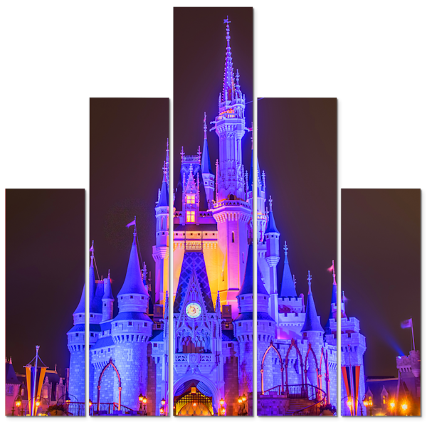 Cinderella's Castle at Night 1 - Disney Panel Art | William Drew