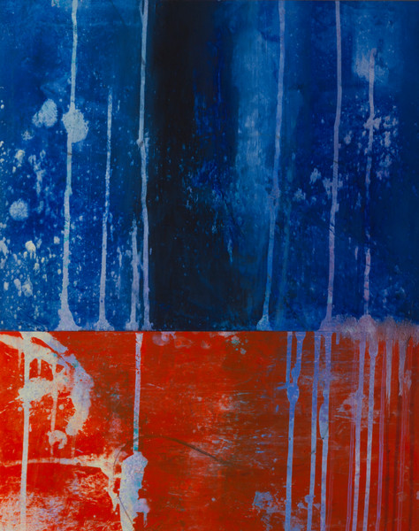 Red Blue abstract painting
