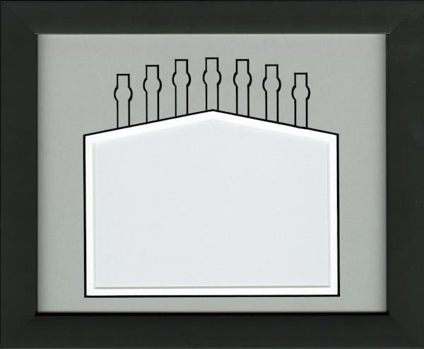 Chicago white and black custom mat 5x7 photo frame