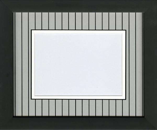 Chicago white and black pinstripe mat 5x7 photo frame