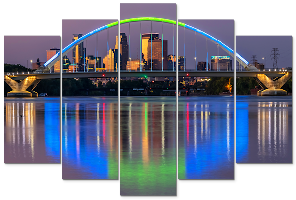 Lowry Dawn - Minneapolis Panel Art | William Drew Photography
