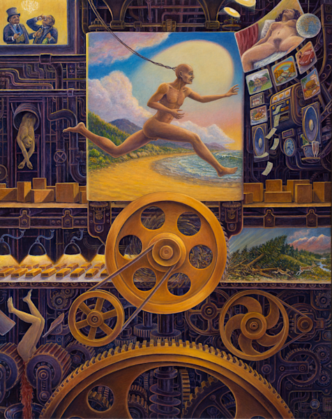 Wheel of Fortune original oil painting by Mark Henson