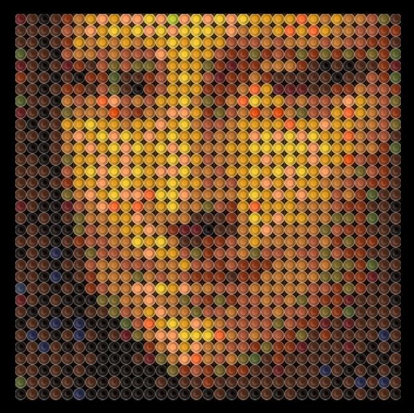 Crayola Crayon 'Mona Lisa' Art | Portraits and Stuff